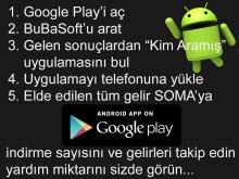 Soma'ya yardım eden Android uygulaması!