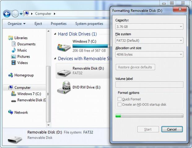 MicroSD kartınızı formatlayın