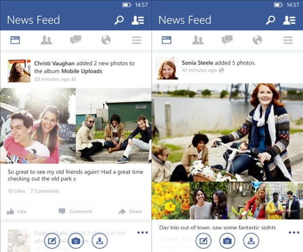 WinPhone'un Facebook uygulaması yenilendi!