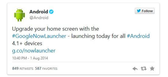 Google Now launcher, çoğu Android cebe geldi!