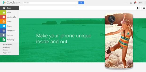 Google'ın Nexus 5 kişiselleştirme aracı yolda
