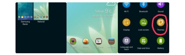 TouchWiz'in tema desteği sızdı!