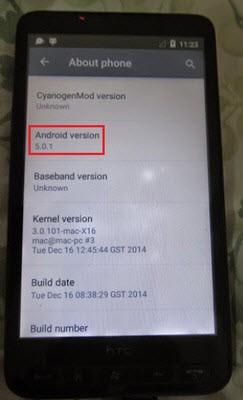 HTC HD2'de Android Lollipop'u çalıştırdılar!