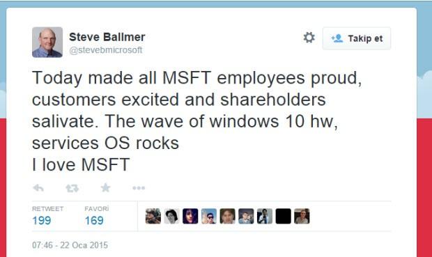 Steve Ballmer, Windows 10 için kararını verdi