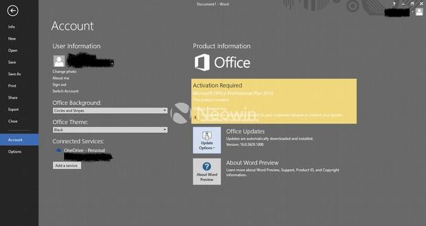 Office 2016'dan yeni ekran görüntüleri!