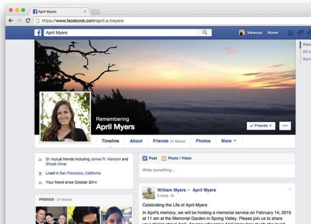 Facebook'tan ölenler için yeni işlev!