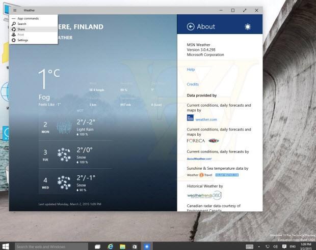 Windows 10 yapı 10022'den üç görüntü daha!
