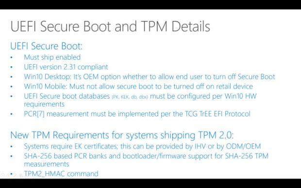 Windows 10, Secure Boot'u kapattırmayabilir!