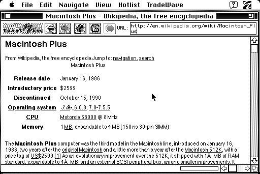 Eski Mac Plus'ını internete böyle bağladı!