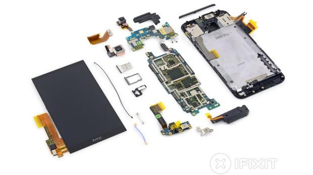HTC One M9'u da parça parça ettiler!