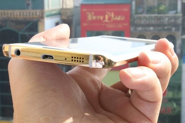 24 ayar altın kaplama Galaxy S6!