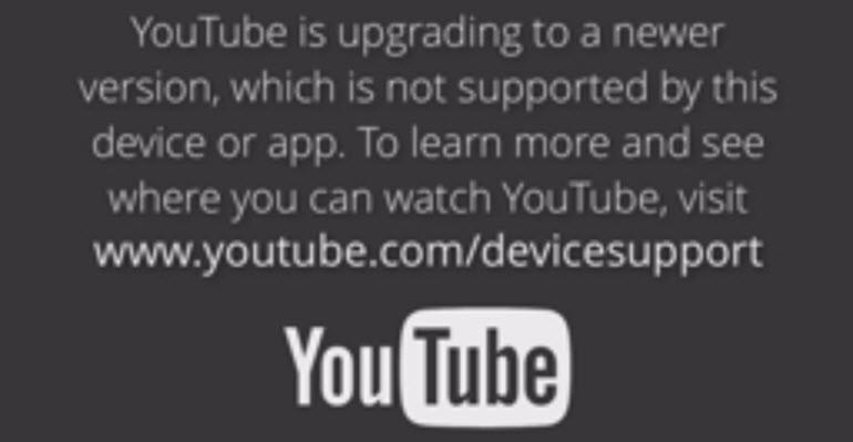 YouTube, artık eski cihazlarla çalışmıyor!
