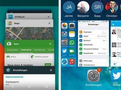 Android: Çoklu görevi iyileştirmeye çalışırken...