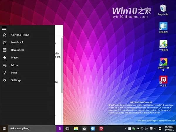 Windows 10 yapı 10102'den yeni kareler!
