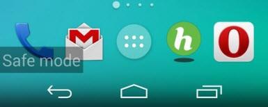 Android'li cebinizi güvenli modda başlatın!