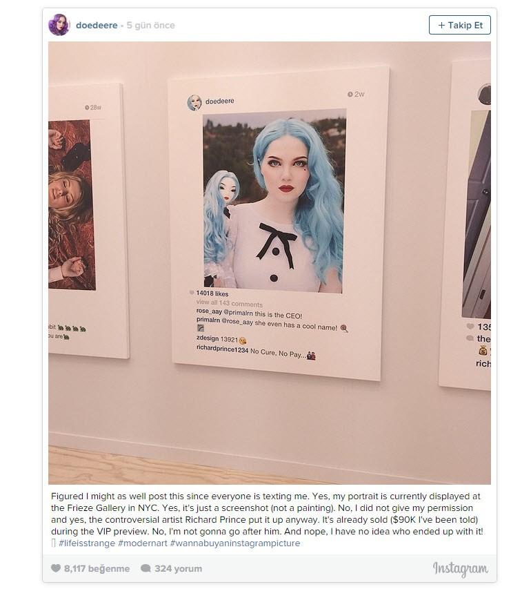 """Instagram fotoğraflarını satan """"sanatçı""""!"""
