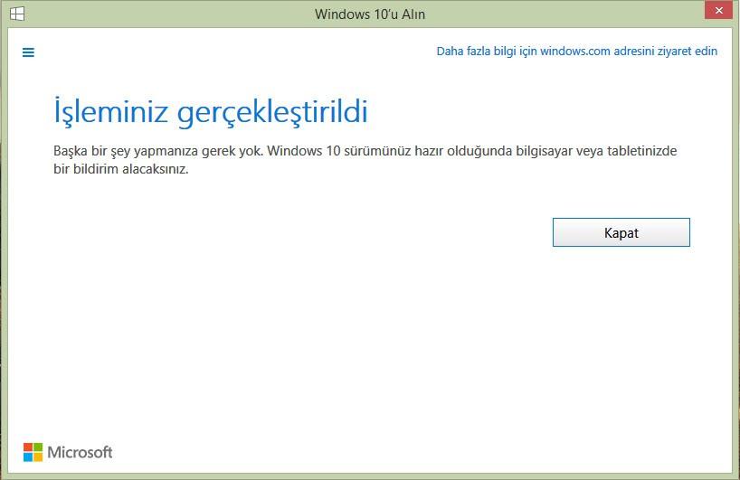 """Windows 10'u """"rezerve etmek"""" artık mümkün!"""