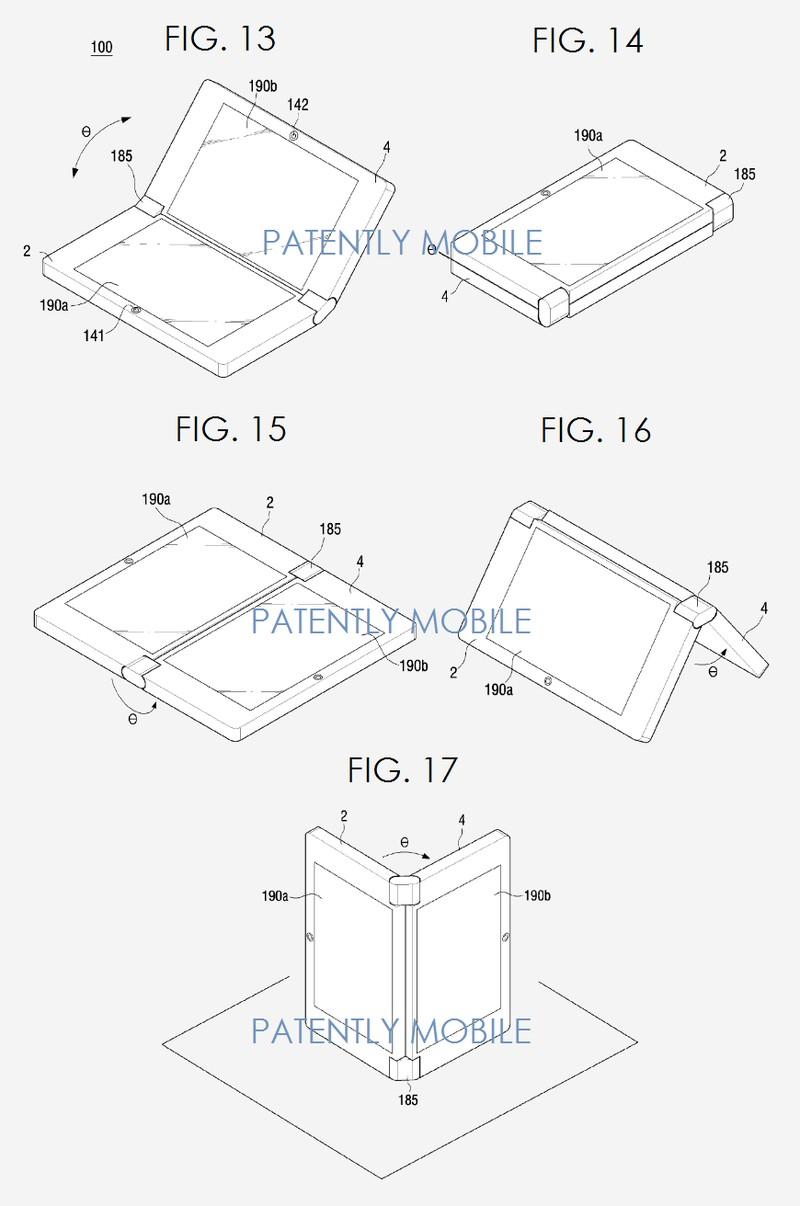 Samsung'un katlanan telefon planları!