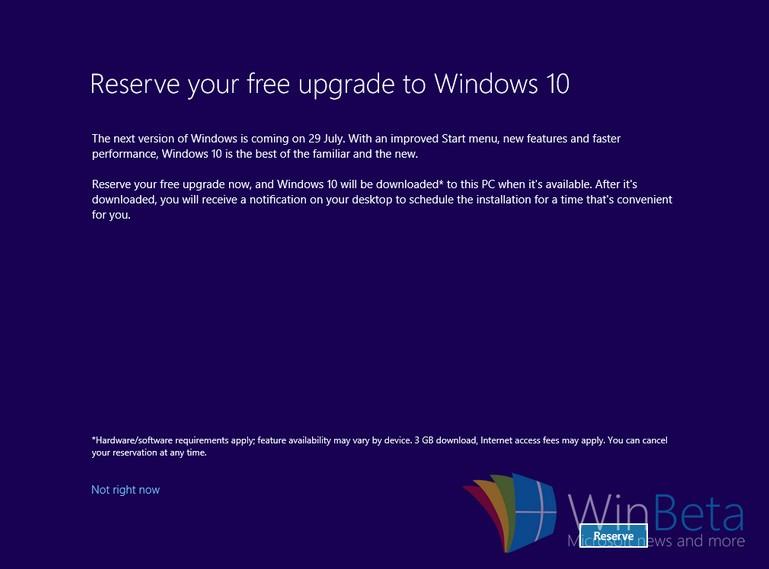 Microsoft'tan bir Windows 10 ekranı daha!
