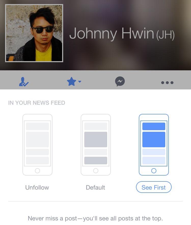 """Facebook haber kaynağına """"ilk gör"""" işlevi!"""