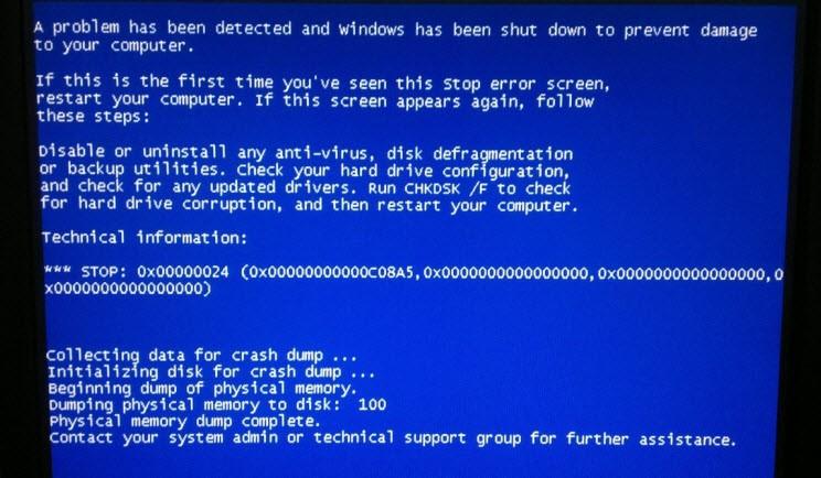 Kernel panic veya mavi ekran neden oluşur?