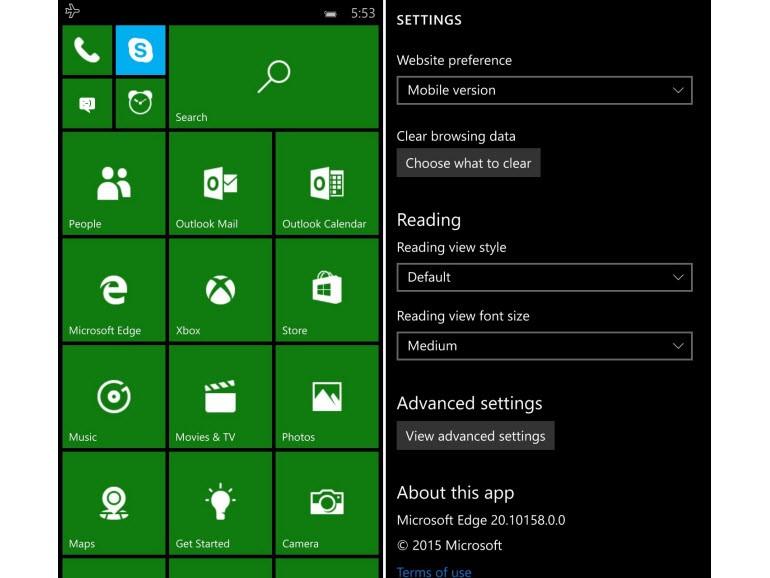 Windows 10 Mobile yapı 10158'den kareler!