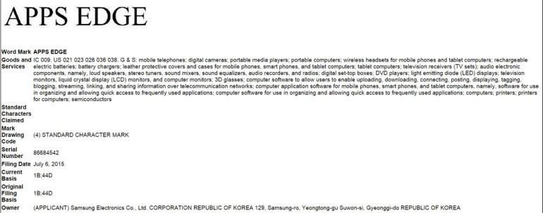 Samsung'tan Apps Edge patenti!