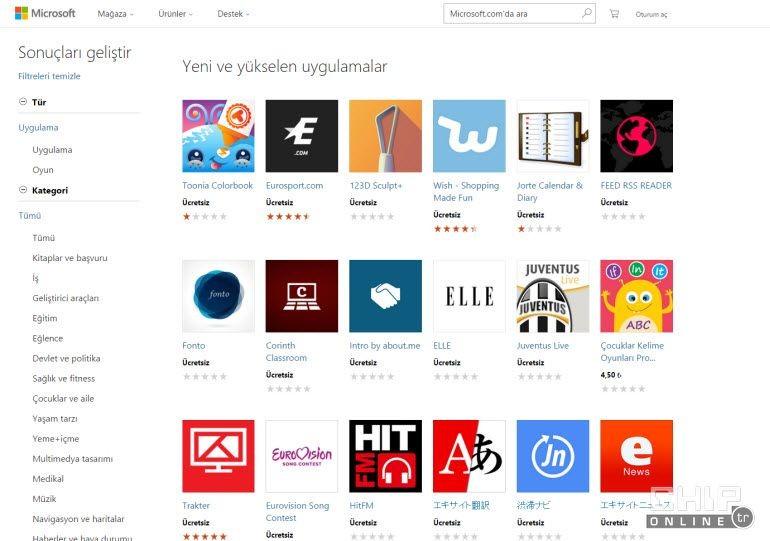 Microsoft, Universal App Store'u açtı!