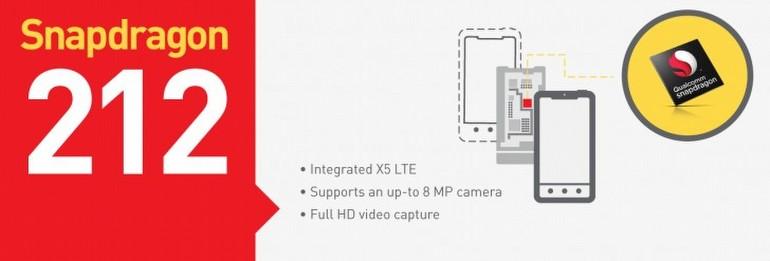 Snapdragon 412 ve 212 tanıtıldı!