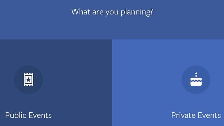 """Facebook'tan """"Etkinlikler""""e yeni ayar geliyor"""