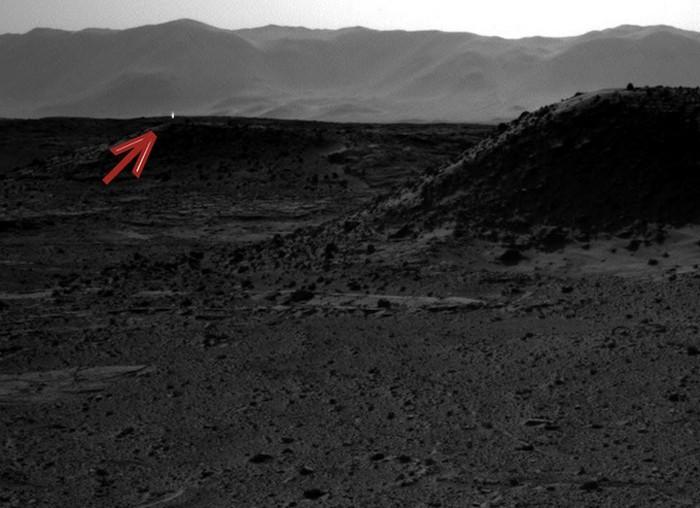 Mars ufkundaki parlak ışık