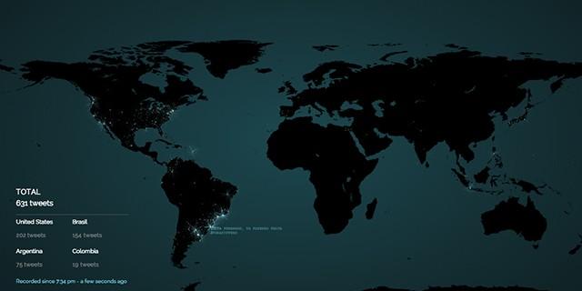 İnternette olup bitenleri gösteren 5 harita!
