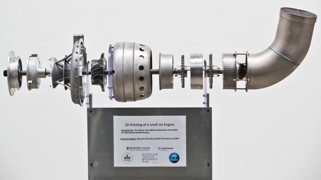 3 boyutlu baskıyla üretilen uçak motoru