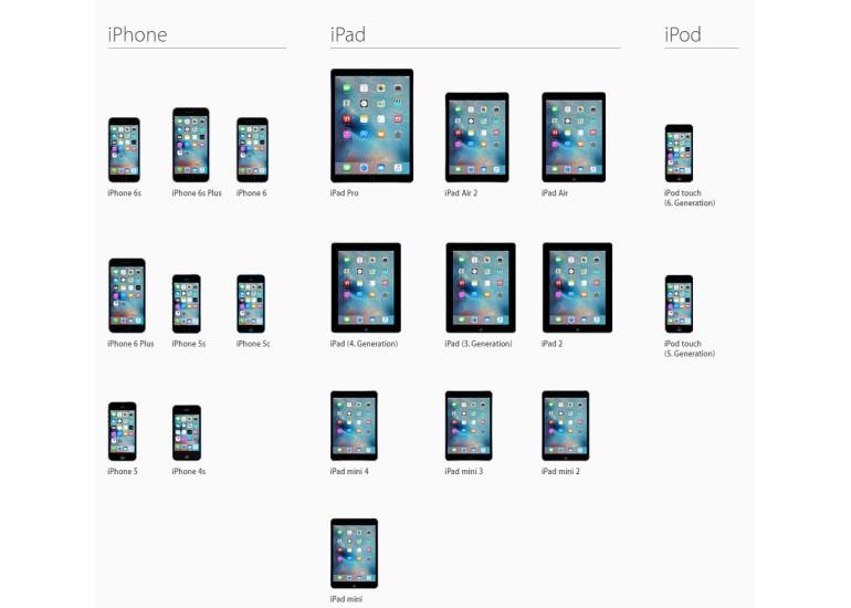 iOS 9'a uyumlu iPhone ve iPad'ler