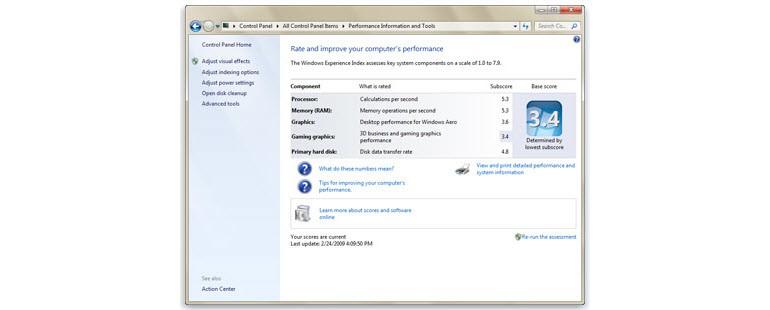Windows Deneyim Dizini (Windows Experience Index)