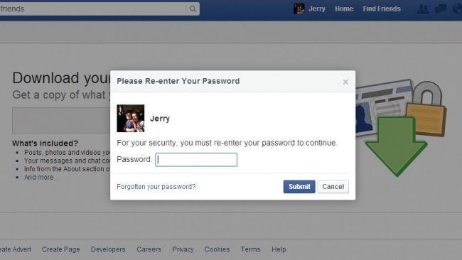 Facebook verilerinizi yedekleyin!