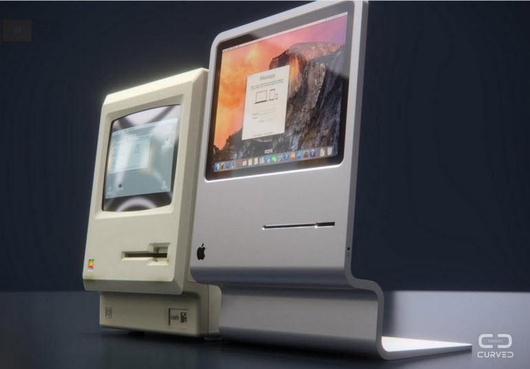 Retro görünümlü modern Apple konseptleri