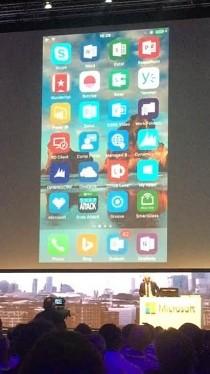 İşte Nadella'nın iPhone'unun giriş ekranı!