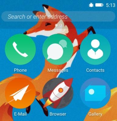 Firefox OS'u launcher olarak deneyin!