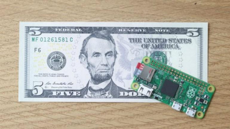 5 dolarlık Raspberry Pi Zero tanıtıldı!