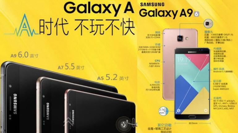 6 inç'lik Galaxy A9 resmi olarak tanıtıldı!