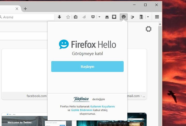Firefox Hello nedir; nasıl kullanılır?