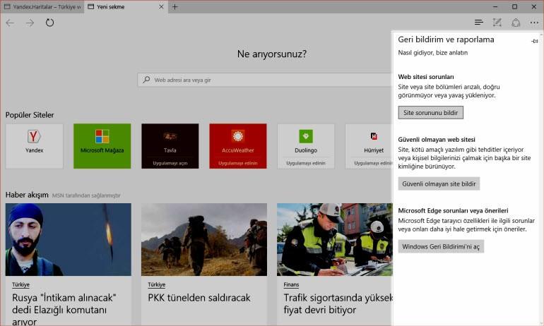 Microsoft Edge'de hangi yenilikler var?