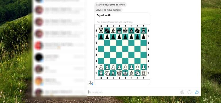 Facebook Messenger'daki gizli satranç oyunu!