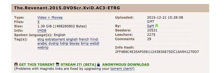 Pirate Bay'de torrent indirmeden izleme devri