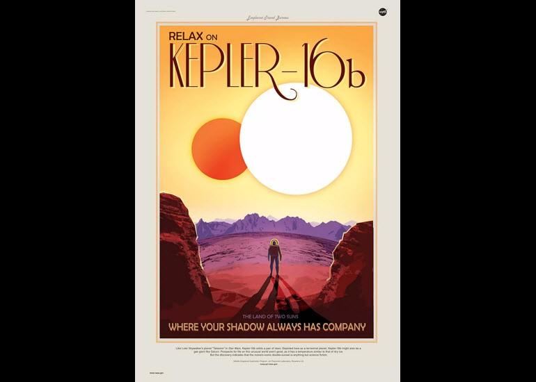 NASA'dan uzay turizmi posterleri!