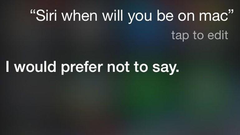 Siri, Mac OS X'e geliyor