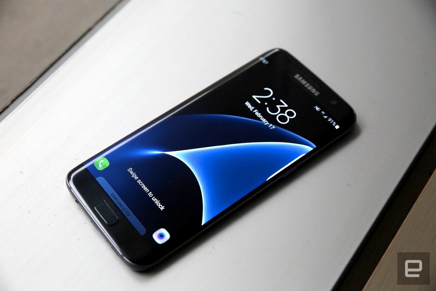 Göze çarpan bir Galaxy S7 Edge