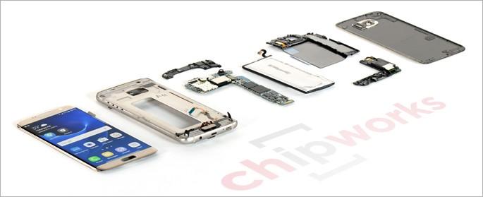 Galaxy S7 Edge'i parçalarına ayırdılar!