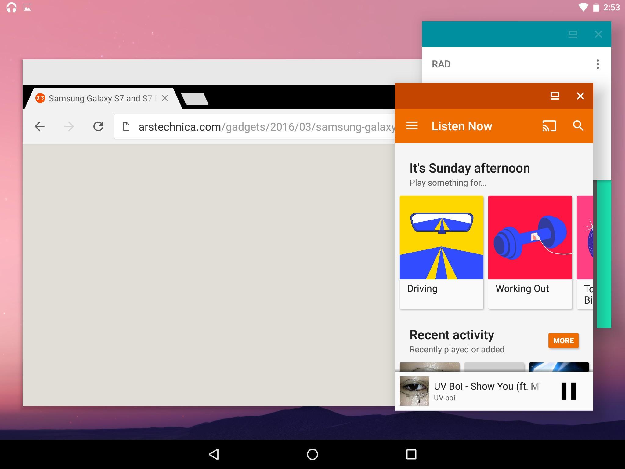 Android N'nin çoklu-pencere işlevi göründü!